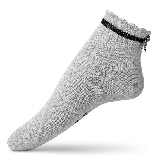 Дитячі шкарпетки в'язки лапка із бантиком над п'яткою фото 1