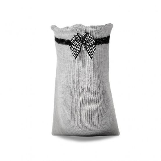 Дитячі шкарпетки в'язки лапка із бантиком над п'яткою фото 2