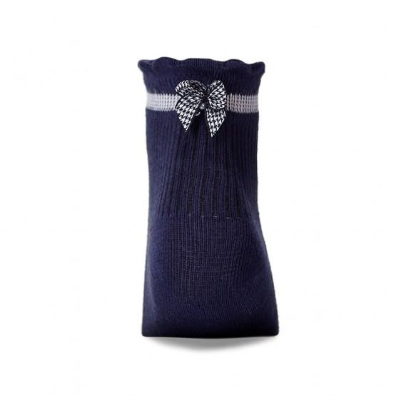Дитячі шкарпетки в'язки лапка із бантиком над п'яткою фото 3