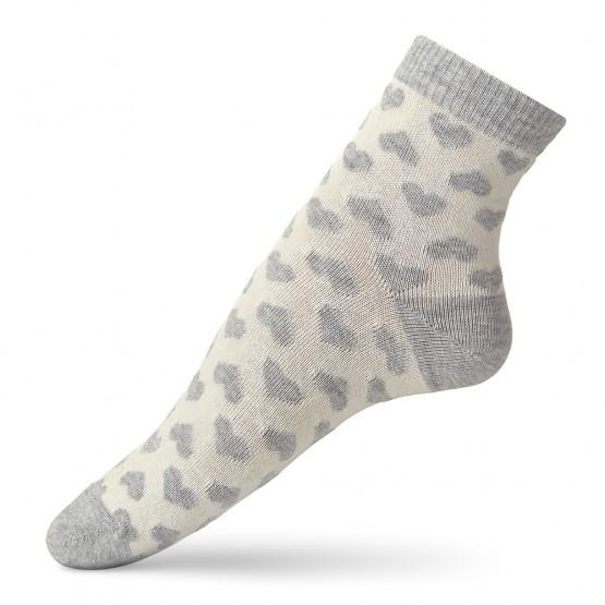 Жіночі шкарпетки із маленькими сердечками фото 1