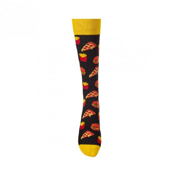 Жіночі шкарпетки, чорного кольору з малюнками фаст-фуду. фото 2