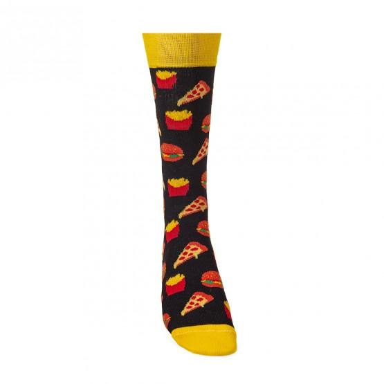 Чоловічі шкарпетки, чорного кольору з малюнками фаст-фуду. фото 3