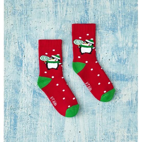 Теплі шкарпетки для малюків, з малюнком пінгвіна фото 1
