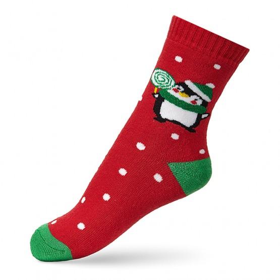 Теплі шкарпетки для малюків, з малюнком пінгвіна фото 2