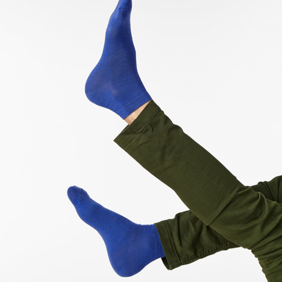 Зручні чоловічі шкарпетки комфортної довжини в однотонних кольорах фото 1