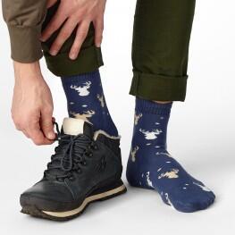 Зимові чоловічі шкарпетки з малюнком «Силует оленя»-2479