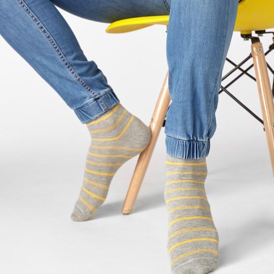 Класичні шкарпетки із яскравими полосами для чоловіків фото 1