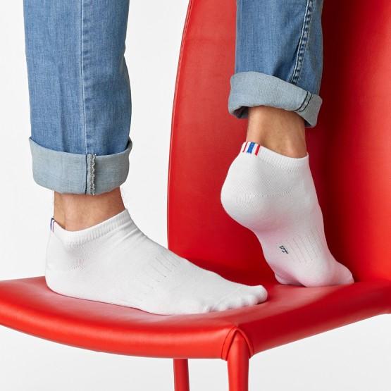 Чоловічі однотонні шкарпетки слід із полосками фото 1
