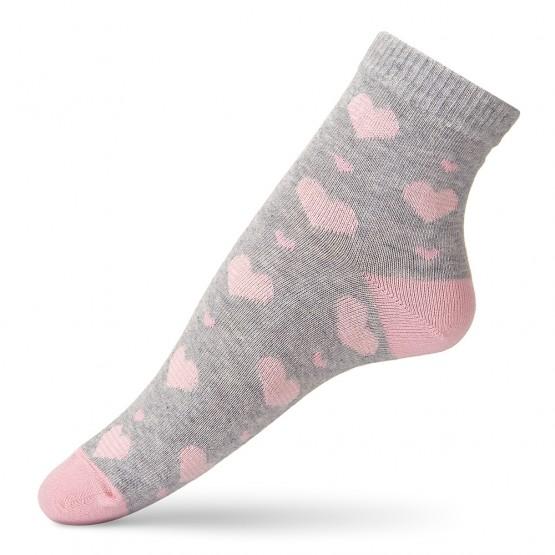 Ніжні шкарпетки із смугастими сердечками фото 4