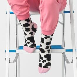 Дитячі шкарпетки з об'ємним малюнком плямок-3340
