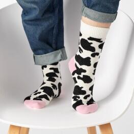 Жіночі шкарпетки з об'ємним малюнком плямок-3342