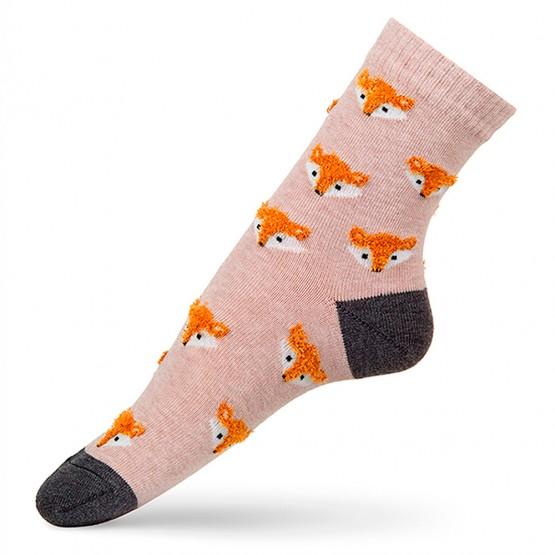 Жіночі шкарпетки з об'ємним малюнком Лисички фото 4