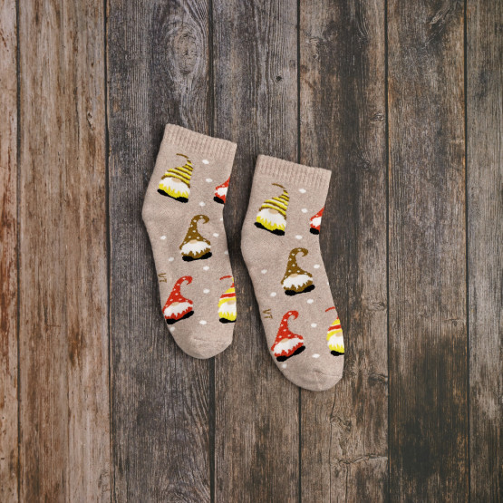 Теплі шкарпетки з гномами фото 1