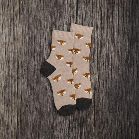 Жіночі шкарпетки з об'ємним малюнком Лисички фото 2
