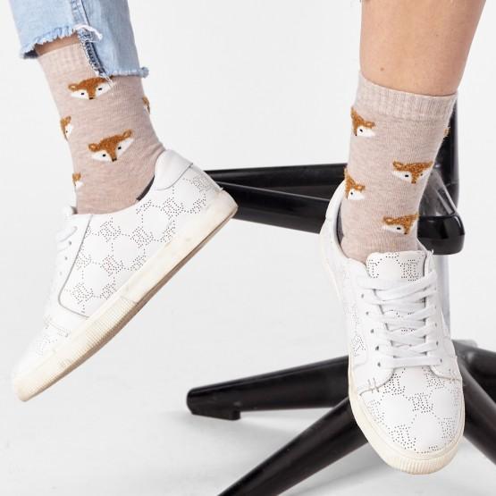 Жіночі шкарпетки з об'ємним малюнком Лисички фото 3