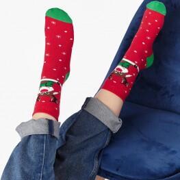 Шкарпетки для жінок з новорічним оленем (Family look)-2387