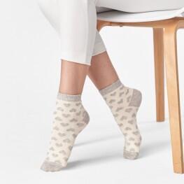 Жіночі шкарпетки із маленькими сердечками-1945