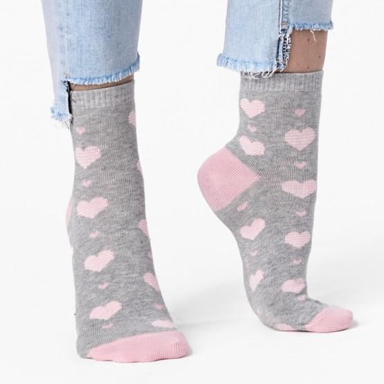 Ніжні шкарпетки із смугастими сердечками фото 3