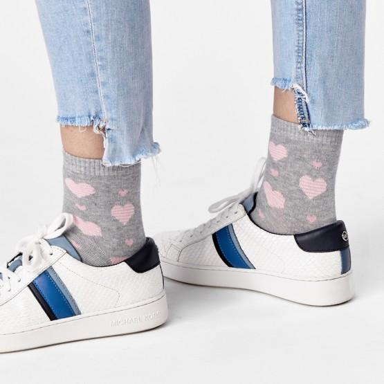 Ніжні шкарпетки із смугастими сердечками фото 1