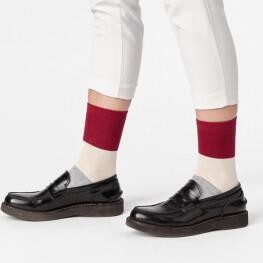 Жіночі шкарпетки класичної довжини «колорблок»-2273