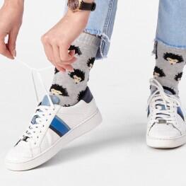 Жіночі шкарпетки з патерном Їжаки-3328