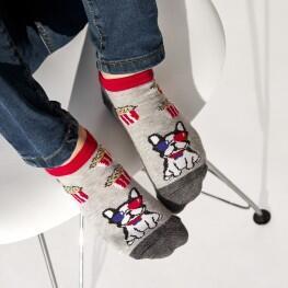 Дитячі шкарпетки сліди «Бульдог попкорн»-3905