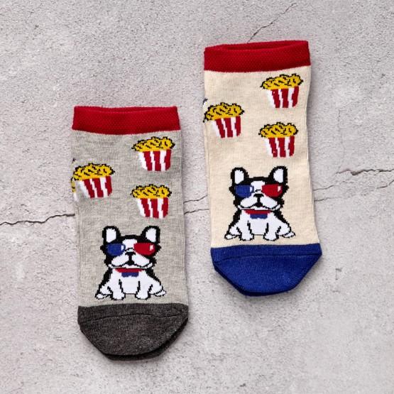 Комплект дитячих шкарпеток «Бульдог попкорн» фото 2