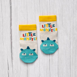 Шкарпетки дитячі з написом Літл монстр-3503