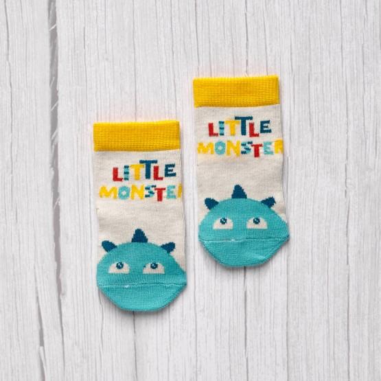 Шкарпетки дитячі з написом Літл монстр фото 1