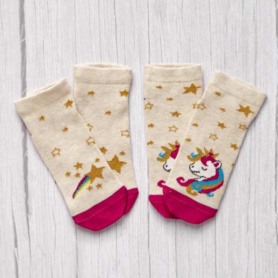 Комплект дитячих шкарпеток «Зірка+единорог» фото 1