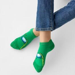Дитячі шкарпетки сліди Амонг зелений-3839