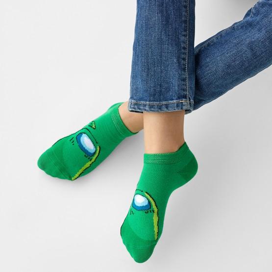 Дитячі шкарпетки сліди Амонг зелений фото 1