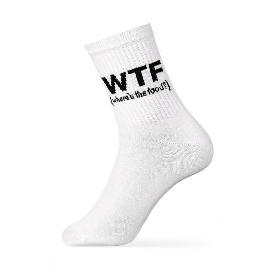 Шкарпетки чоловічі з написом «WTF» фото 1