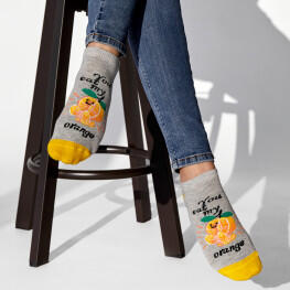 Комплект 2-х пар шкарпеток «мій банан, моя апельсинка»-3507
