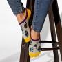 Комплект з 2-х пар жіночих шкарпеток подследок «Сова + пір'я» фото 1
