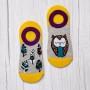 Комплект з 2-х пар жіночих шкарпеток подследок «Сова + пір'я» фото 2