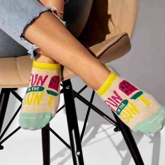 Комплект жіночих шкарпеток підслідок «Summer» фото 4