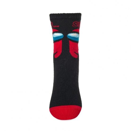 Дитячі шкарпетки Амонг червоний фото 2