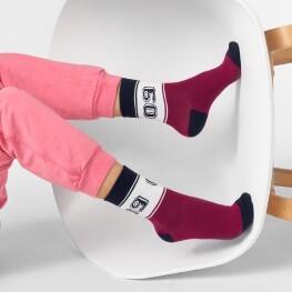 Дитячі шкарпетки у спортивному стилі з цифрами «09»-2731