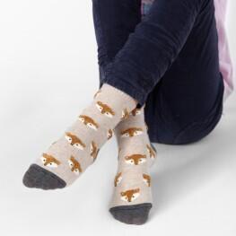Дитячі шкарпетки з об'ємним малюнком Лисички-3316