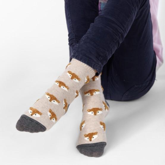 Дитячі шкарпетки з об'ємним малюнком Лисички фото 1