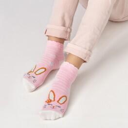 Шкарпетки для дівчаток з зайченям з люрексу-2734