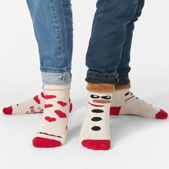 Теплі дитячі шкарпетки з сердечками та відворотом фото 2
