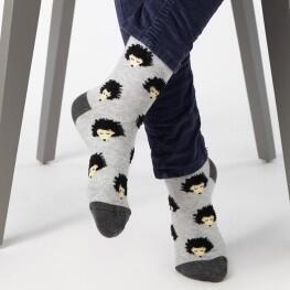 Дитячі шкарпетки з малюнками милих Їжаків-3314