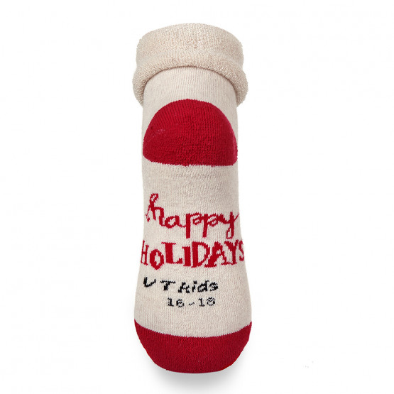 Теплі дитячі шкарпетки з сердечками та відворотом фото 5