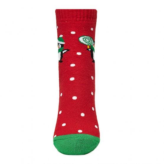 Теплі шкарпетки для малюків, з малюнком пінгвіна фото 3