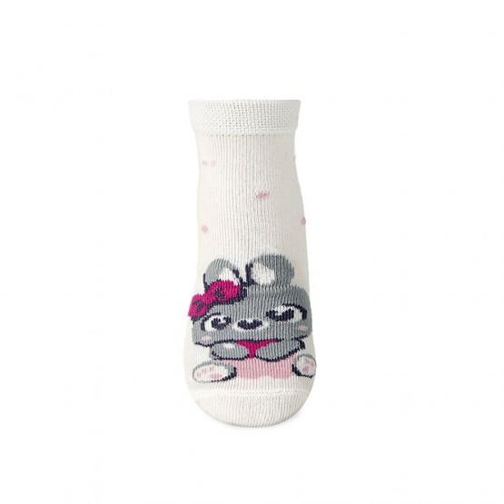 Дитячі шкарпетки для найменших з малюнком зайки фото 2