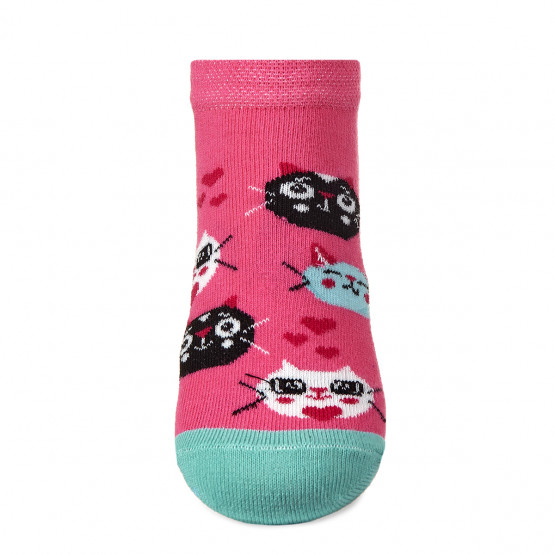 Шкарпетки сліди для дівчаток, з котиками. фото 4