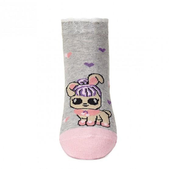 Комплект шкарпеток з 2-х пар для дівчат із лялькою LOL та коронами фото 3