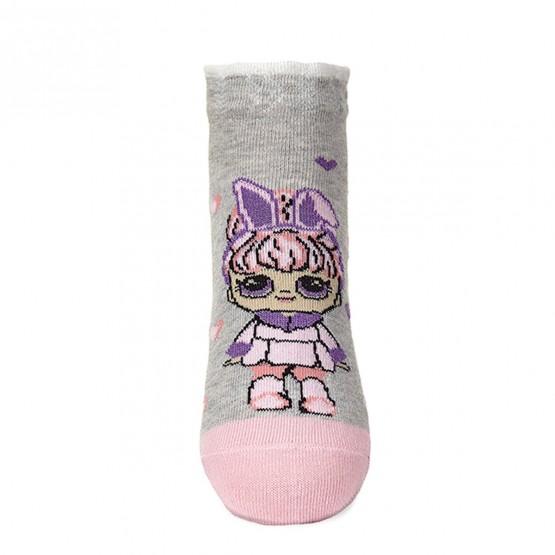 Комплект шкарпеток з 2-х пар для дівчат із лялькою LOL та коронами фото 5